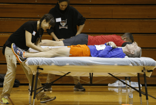 Participants Receive a Massage